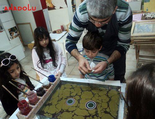 Konyadaki Ebru Gösterisi ve Ebru Eğitimleri İçin Kurslarımız