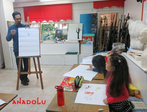 Konyadaki Çocuk Çizimlerinde Büyük Ressam İzleri
