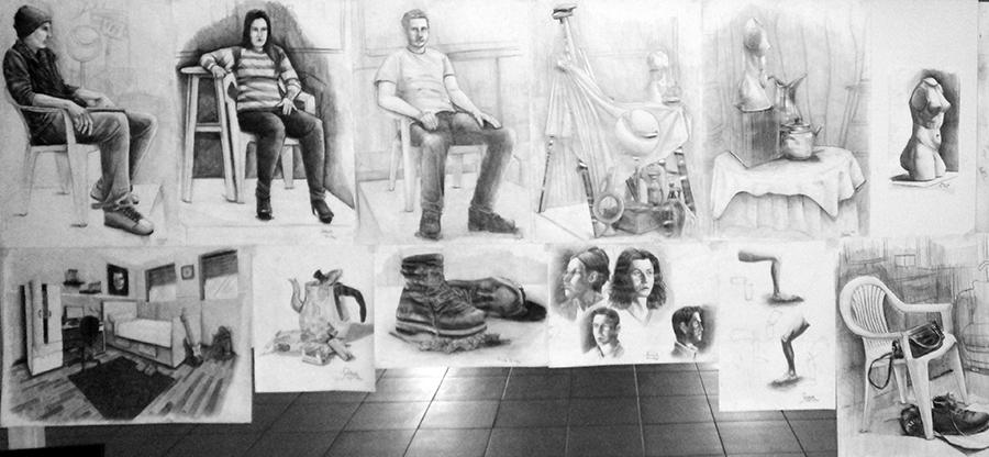 Güzel Sanatlarda Çıkmış İmgesel Çizimler Konyada