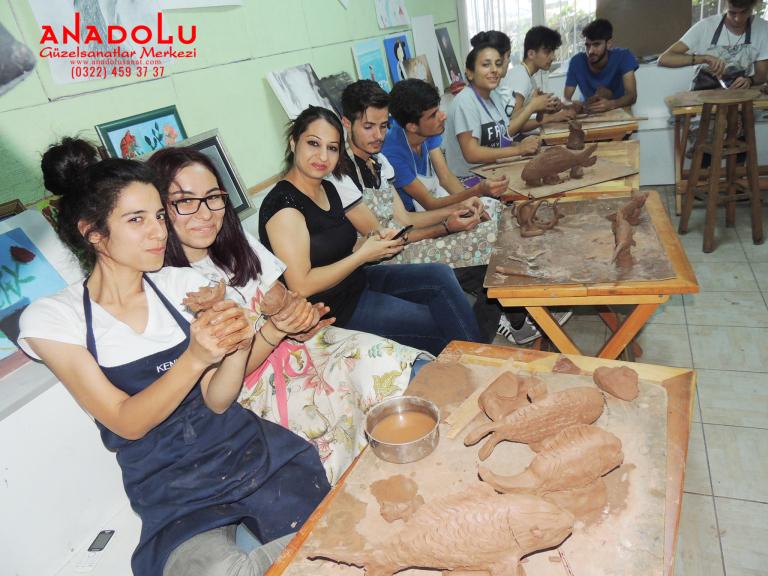 Heykel Dersleri Hobi Grupları Konya