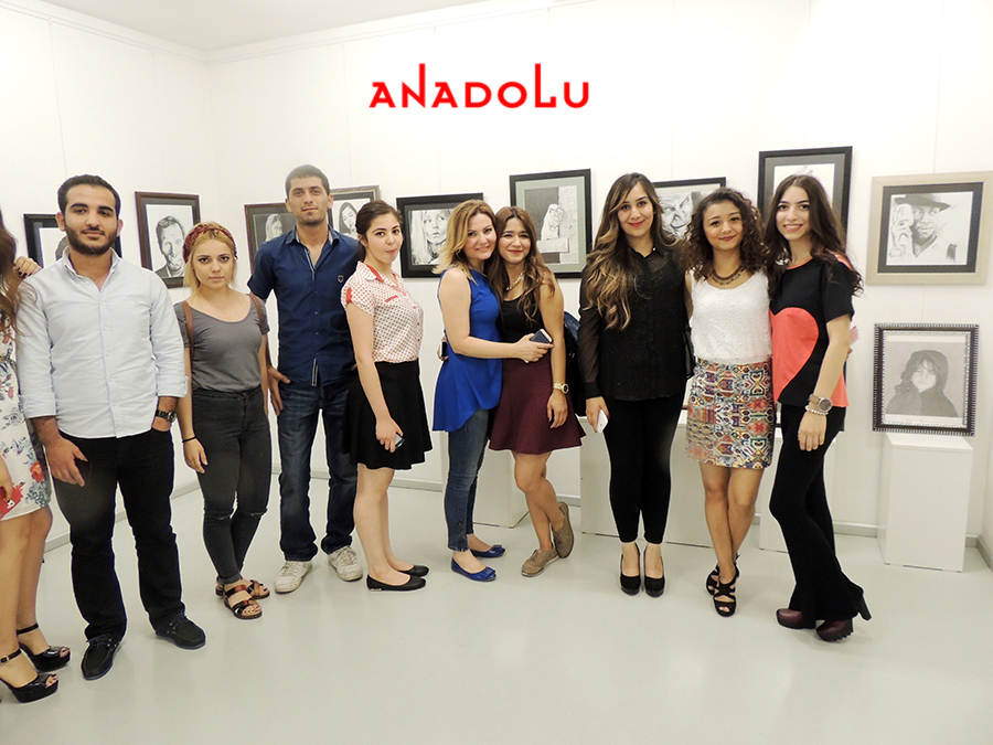 Konyada Anadolu Güzel Sanatlarda Sergi Açılışları