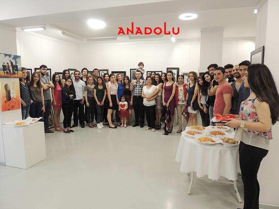Anadolu Güzel Sanatlarda Sergi Açılışları Konyada