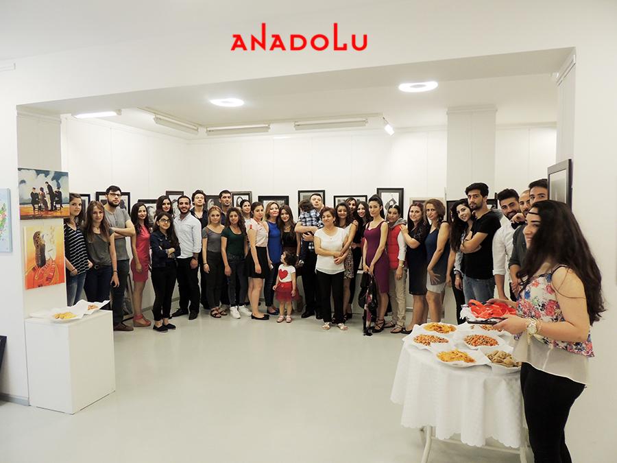 Anadolu Güzel Sanatlarda Sergi Açılışı Konyada