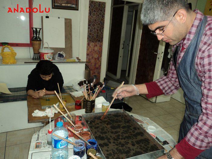 Konyada Ebru Eğitimleri