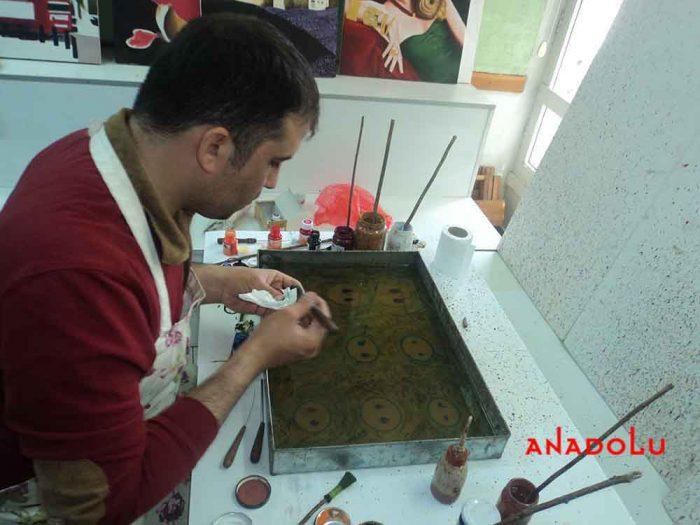Konyada Yetişkinler İçin Ebru Eğitimleri