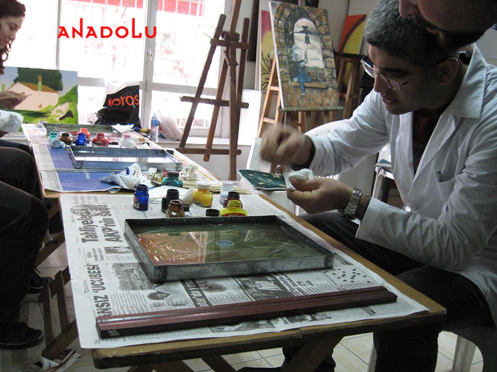 Konyada Yetişkinlerle Ebru Kursları