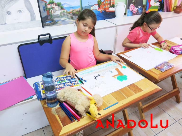 Konyada Çocuklara Yönelik Pastel Boyama Kursu