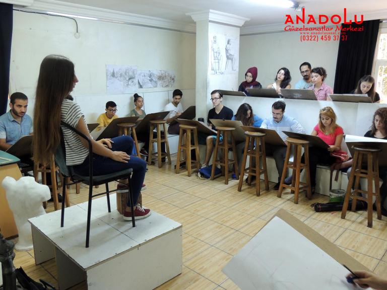 Anadolu Güzel Sanatlar Çizim Dersinde Konyada