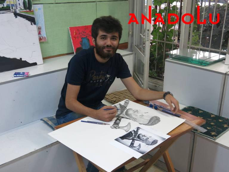 Karakalem Çalışan Hobi Grubu Çizimleri Konyada