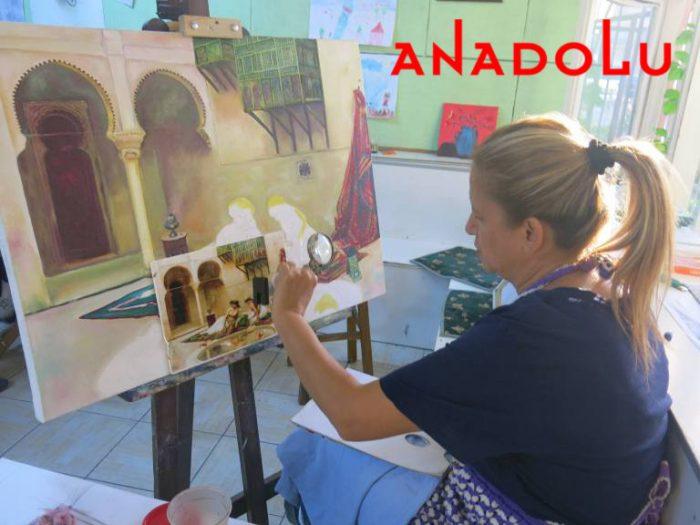 Yağlıboya Manzara Çalışmaları Hobi Grupları Konyada