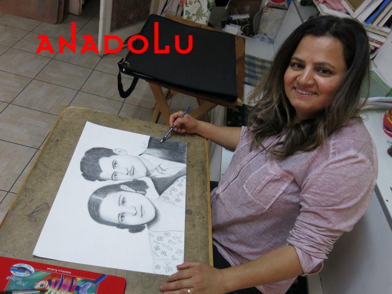 Karakalem Potre Çalışmaları Hobi Grupları Konya