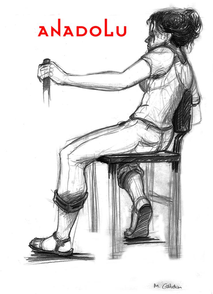 Karakalem Kadın Model Çizimi Konyada