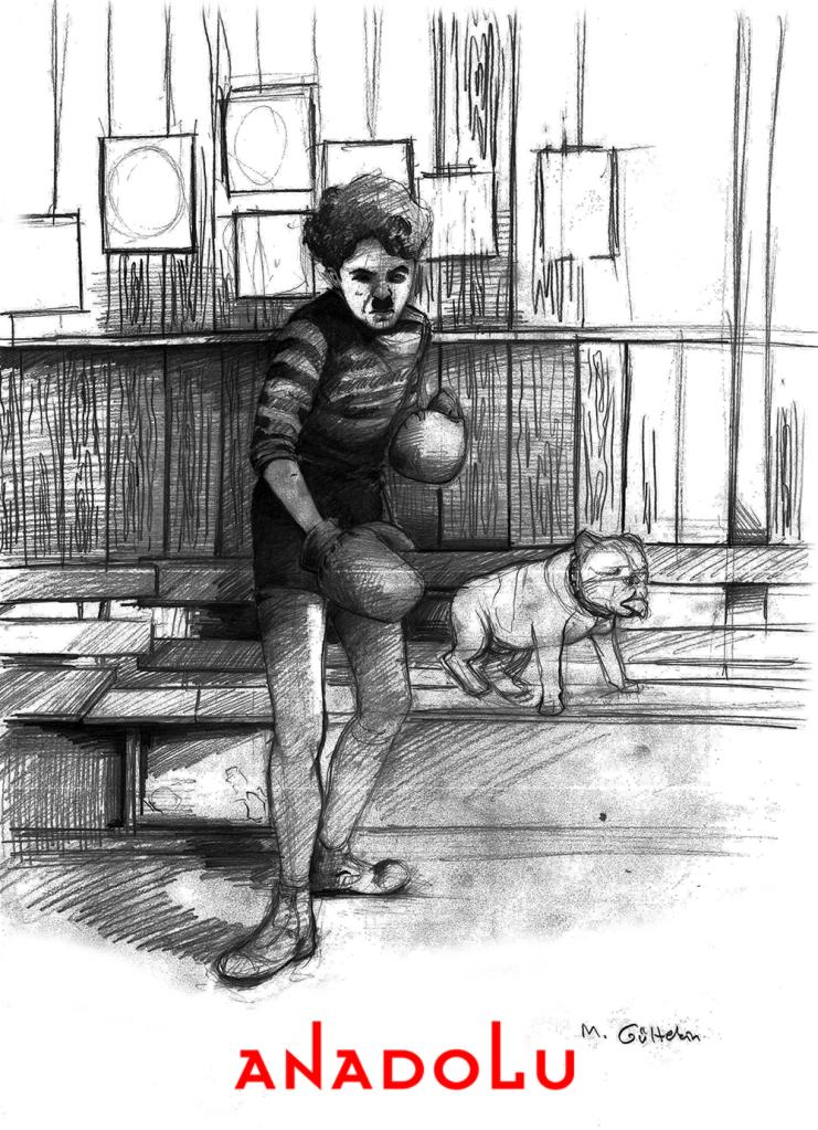 karakalem Charlie Chaplin Çizimleri Konyada