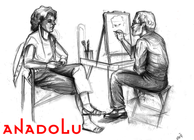 Konyada Karakalem Çizim Çalışması